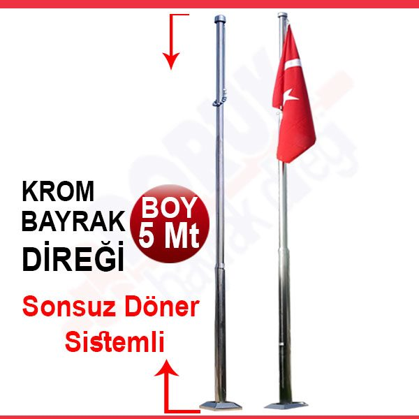 5METRE-KROM-BAYRAK-DİREĞİ