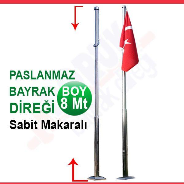 8metre_sabit_makaralı_paslanmaz_bayrak_diregi